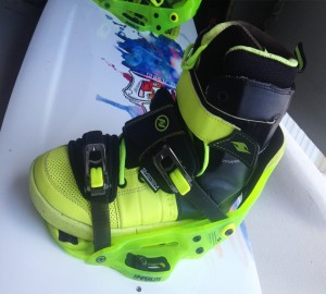 Hyperlite Wakeboard the system boots + binding